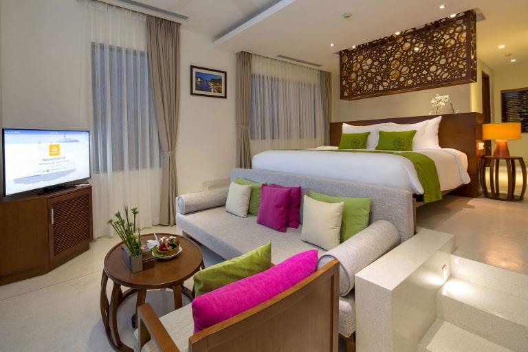 Phòng nghỉ với cách sắp xếp không gian khá mới lạ