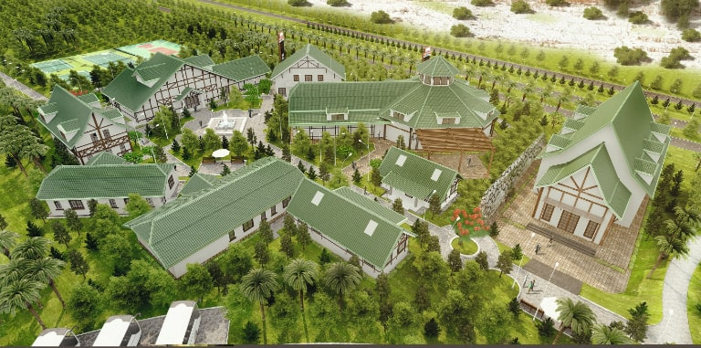 Resort Movenpick nổi tiếng với không gian xanh cực ấn tượng