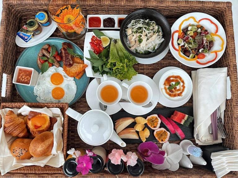 Bữa ăn nhẹ hấp dẫn tại resort The An Nam
