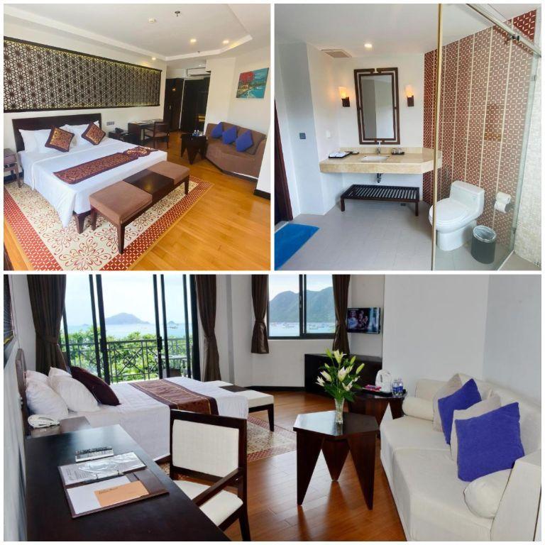 Không gian phòng nghỉ tại resort Côn Đảo