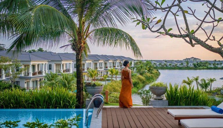 Chụp những bức hình sống ảo tại resort