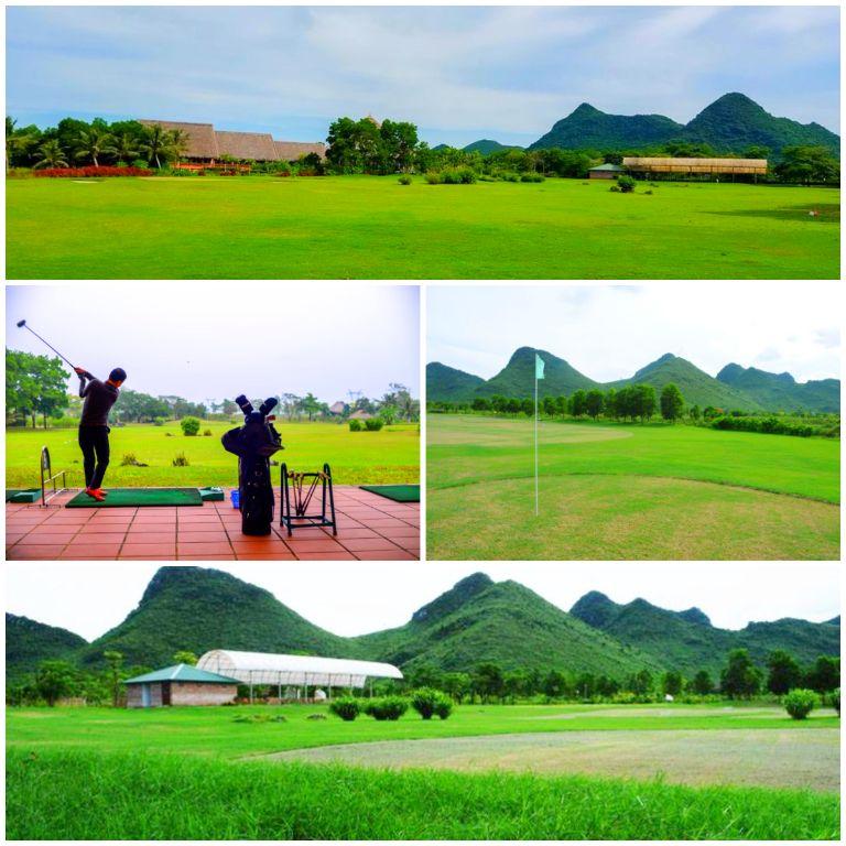 Sân golf rộng rãi