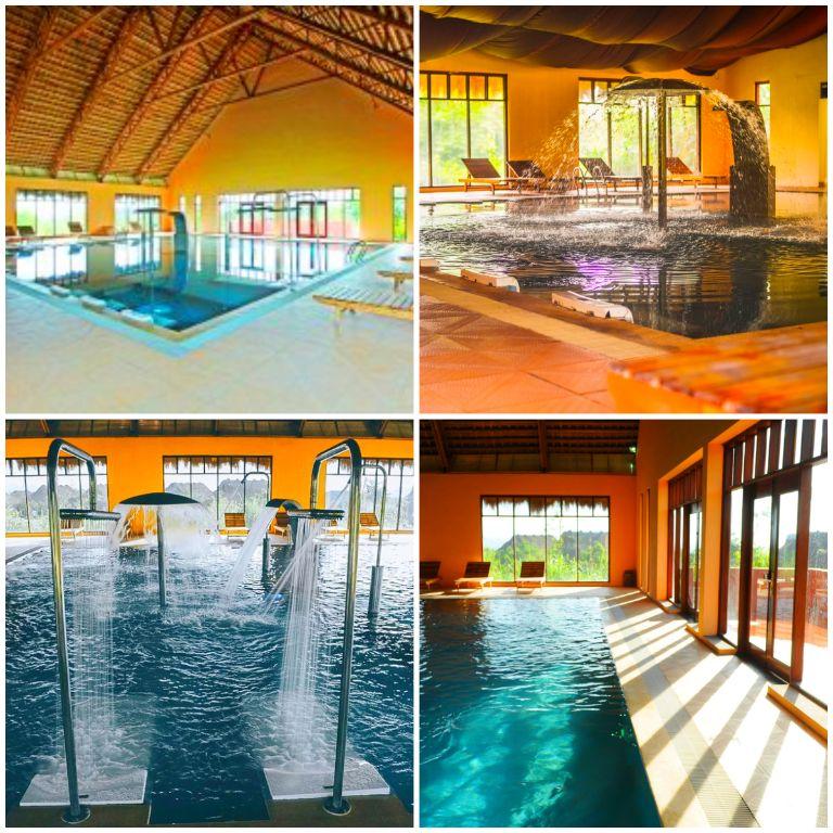 Bể bơi khoáng nóng trong nhà