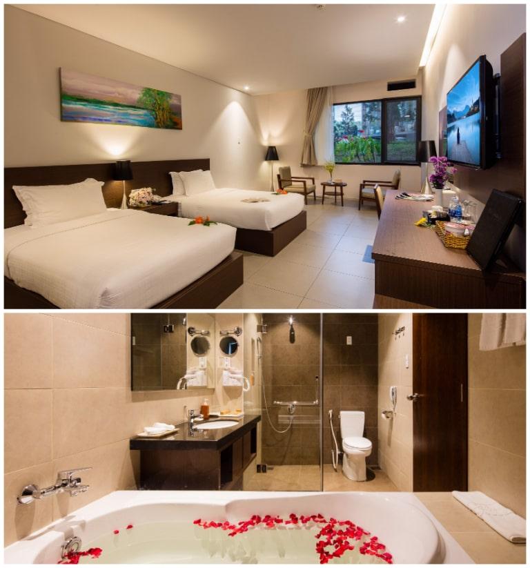 Resort Terracotta có thiết kế nội thất đơn giản mà tiện nghi