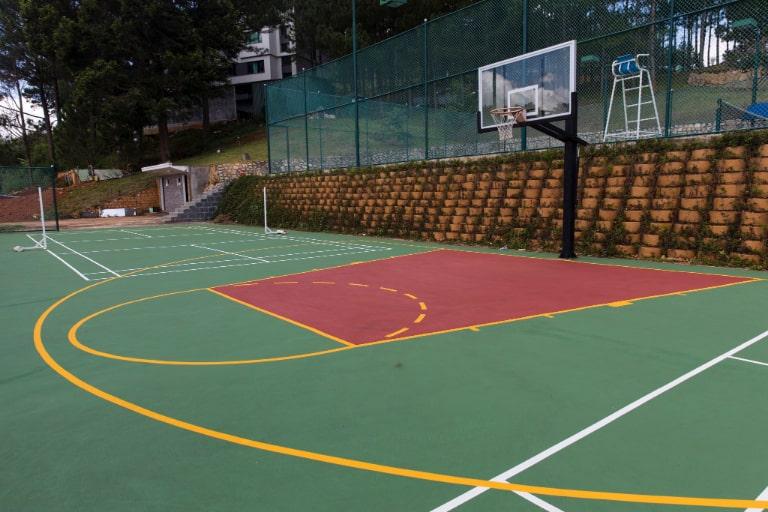 Sân thể thao tích hợp của resort Terracotta