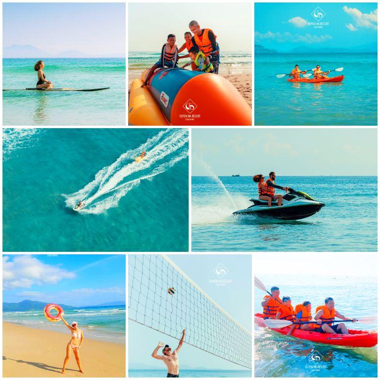 Hoạt động thể thao dưới nước tại resort Duyên Hà