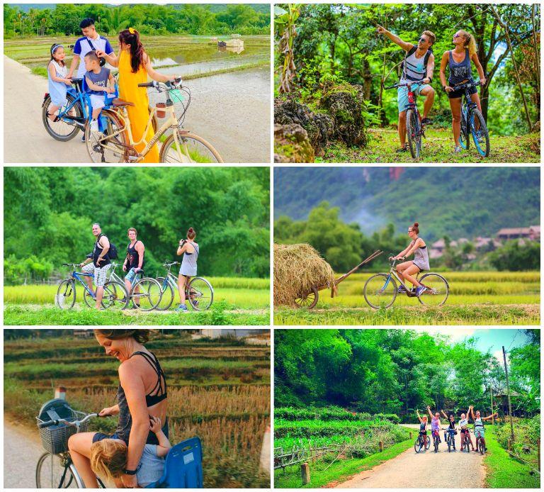 Đạp xe khám phá resort Ecolodge Mai Châu