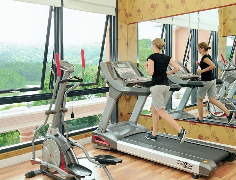 Phòng tập gym với những trang bị hiện đại
