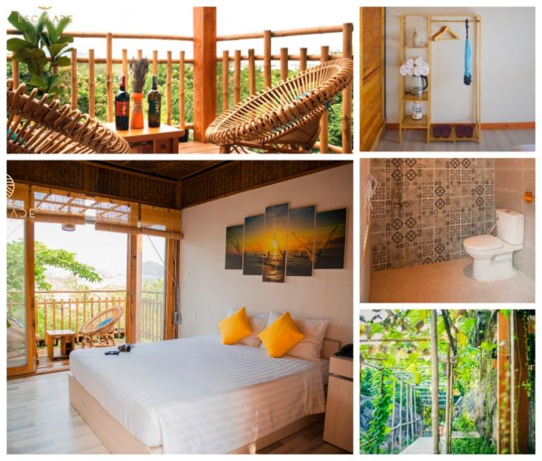 Sự thoải mái và tiện nghi của phòng nghỉ Escalade Bungalow