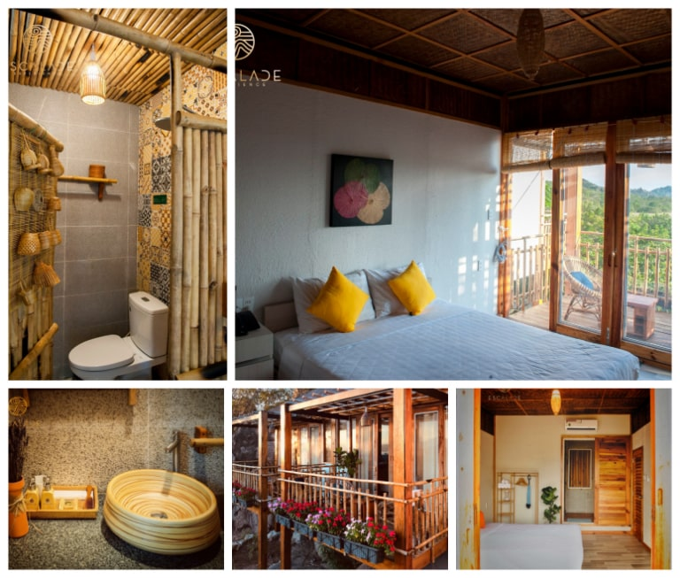 Không gian phòng bungalow deluxe sea view tiện nghi