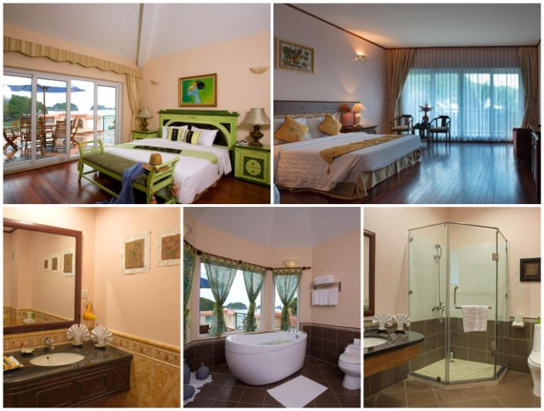 Kiến trúc phòng ngủ tại Cat Ba Island Resort & Spa