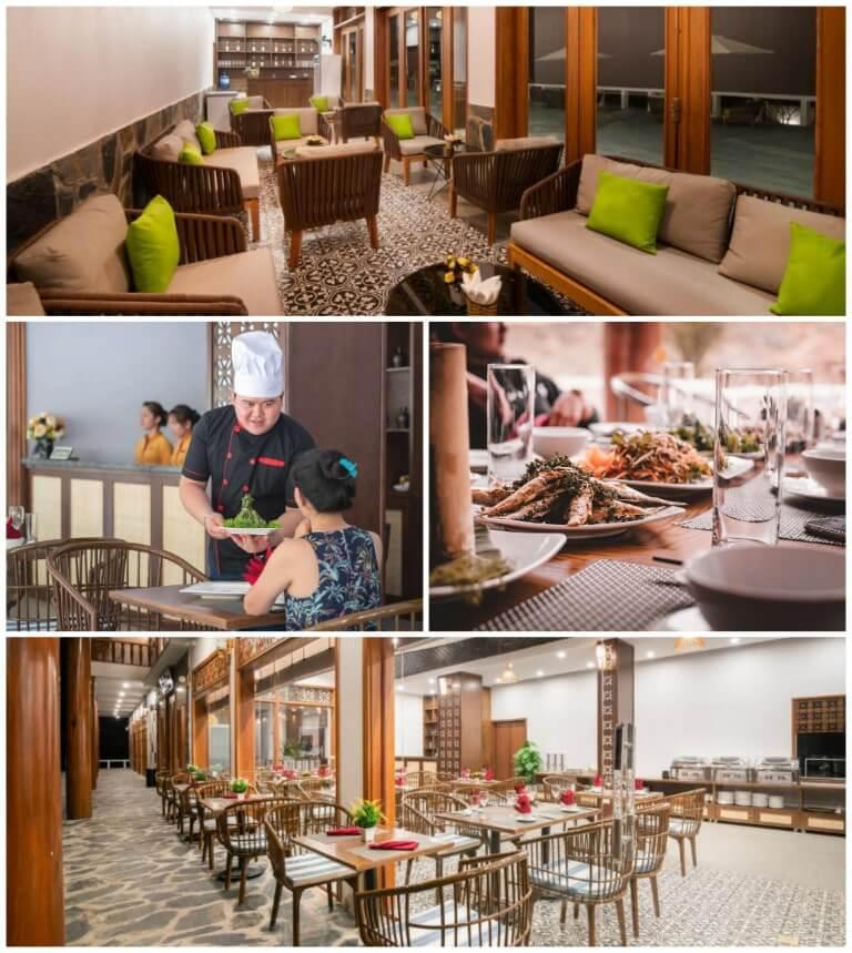 Không gian ẩm thực sang trọng của resort