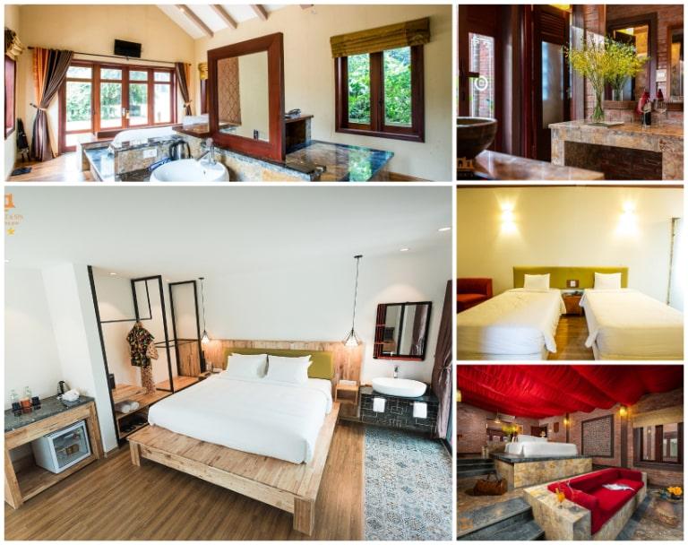 Phòng nghỉ tiện nghi của Asean resort Hòa Bình