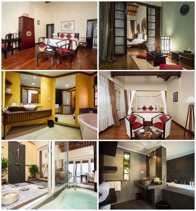 Kiến trúc và nội thất các căn phòng nghỉ