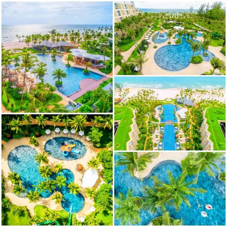 Hồ bơi OASIS tại Resort Intercontinental Phú Quốc