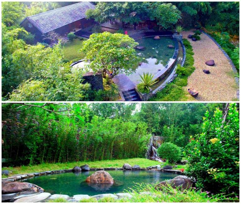 Toàn cảnh khu bể tắm khoáng nóng Osen tại Serena Hòa Bình