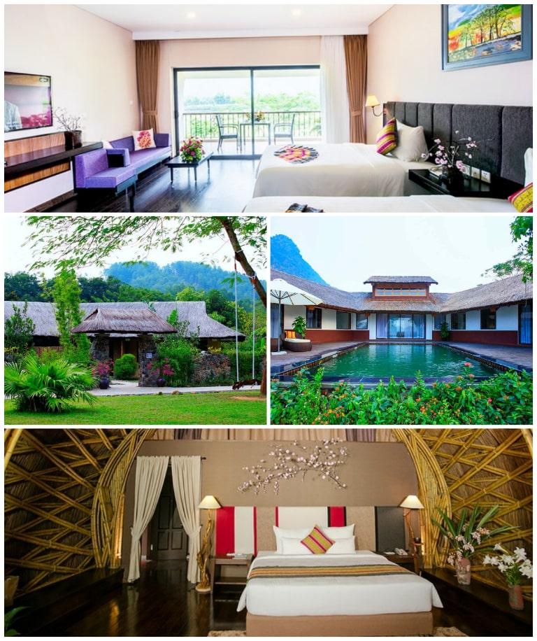 Các phòng nghỉ tiện nghi tại resort khoáng nóng Serena Hòa Bình