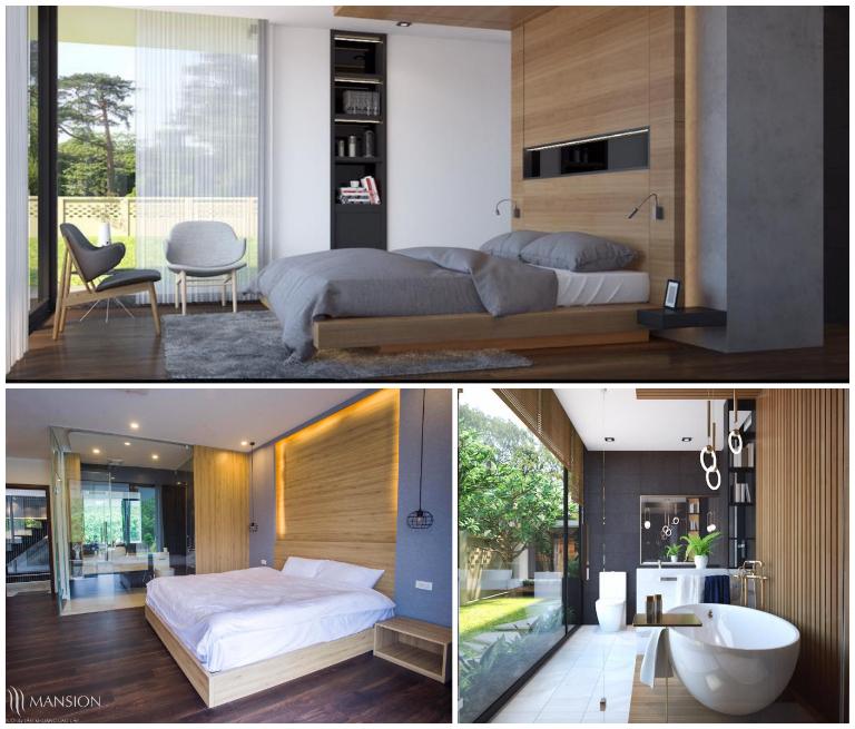 Phòng nghỉ đầy đủ tiện nghi của L'Plus Mansion resort Hòa Bình