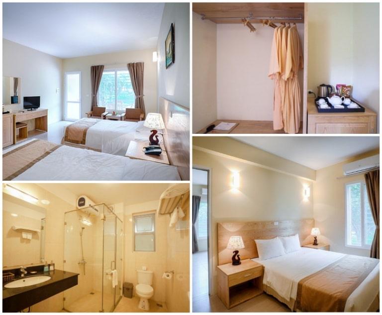 Các phòng nghỉ đầy đủ tiện nghi dành cho du khách