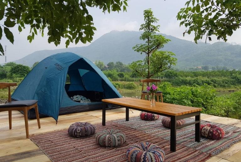 Cắm trại bên sông tại An Lạc resort