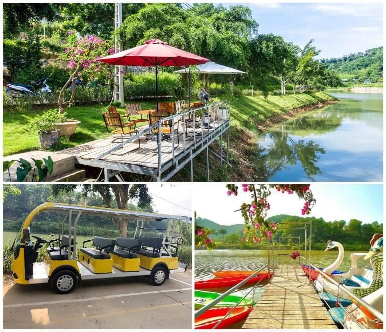 Khu hồ câu tại Sun Blush Resort Lương Sơn Hòa Bình