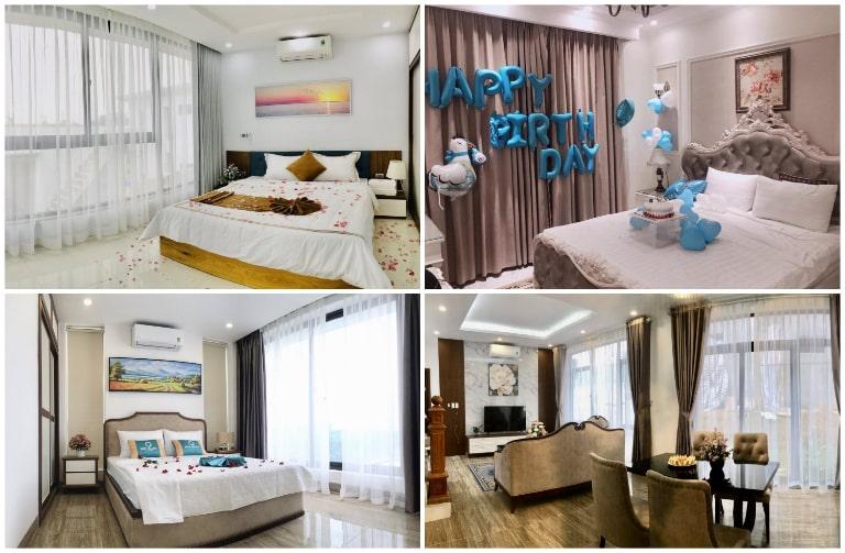 Các phòng nghỉ rộng rãi của Sun Blush resort Lương Sơn Hòa Bình