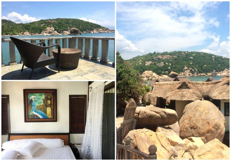 Phòng Bungalow ven biển với tầm nhìn tuyệt đẹp tại Ngọc Sương