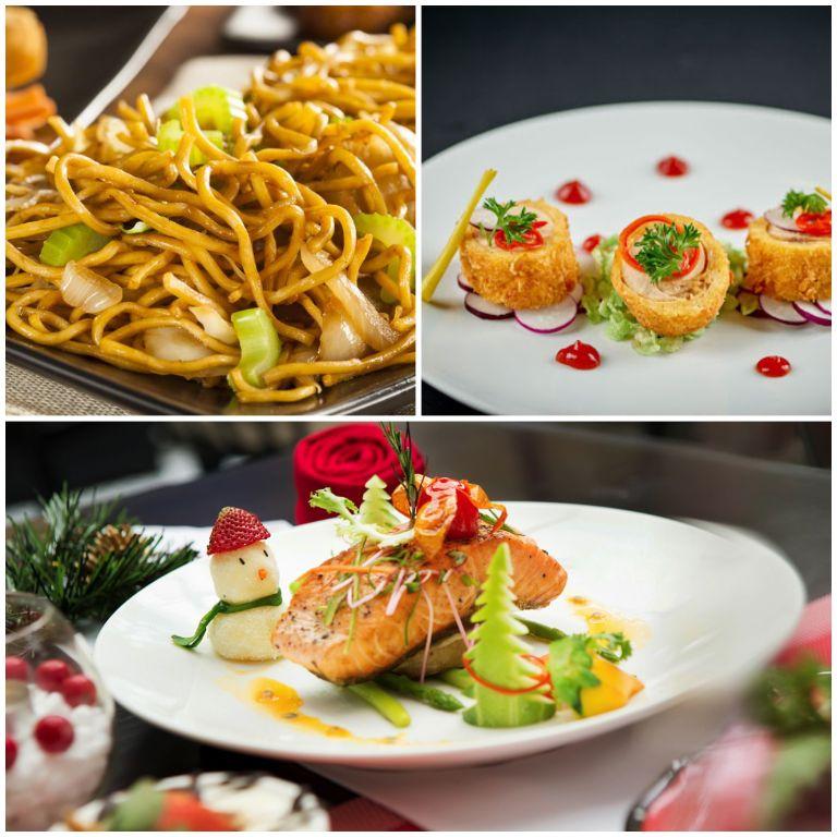 Các món ăn tại nhà hàng của resort