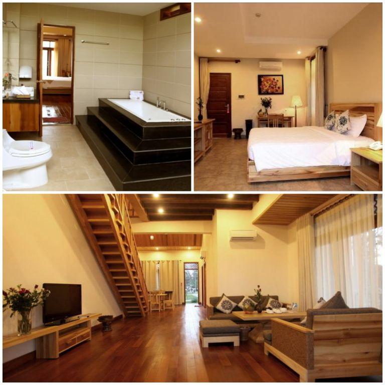 Không gian phòng ngủ ở Aniise Villa - Resort Ninh Thuận