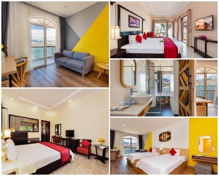 Hệ thống phòng ngủ tại resort Ninh Thuận