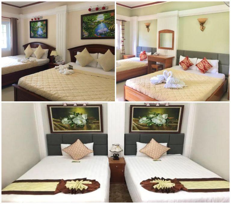 Phòng ngủ tại resort Vĩnh Hy