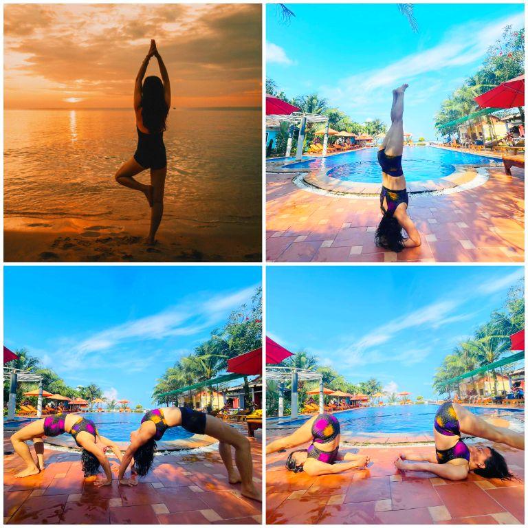 Yoga ngoài trời tại resort Orange Phú Quốc