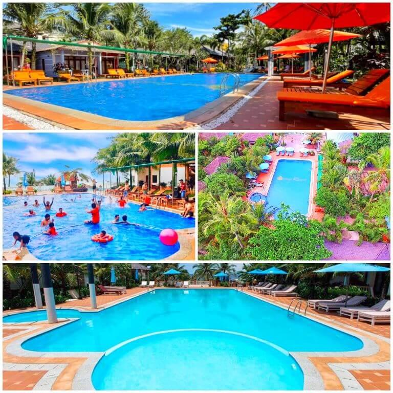 Hồ bơi ngoài trời tại resort Orange Phú Quốc