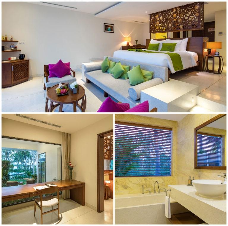 Thiết kế ngăn bậc độc đáo tại phòng Terrace tại resort Riviera