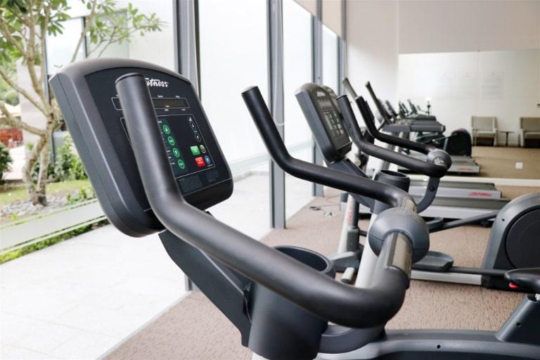 Phòng gym tiện tích với nhiều thiết bị hiện đại