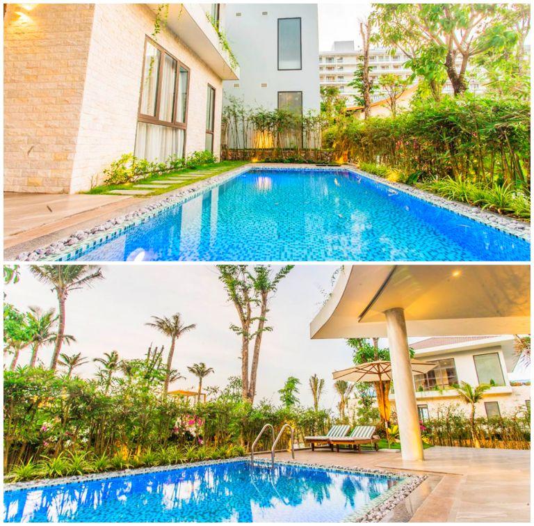 Biệt thự 2 phòng ngủ hướng vườn tại resort Rosa Alba
