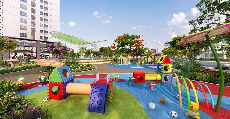 Khu vui chơi trẻ em tại resort Rosa Alba