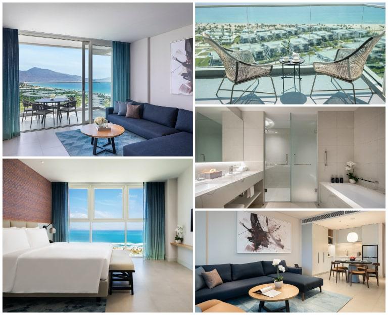 Tầm nhìn tuyệt đẹp của phòng suite tại Alma Resort Cam Ranh