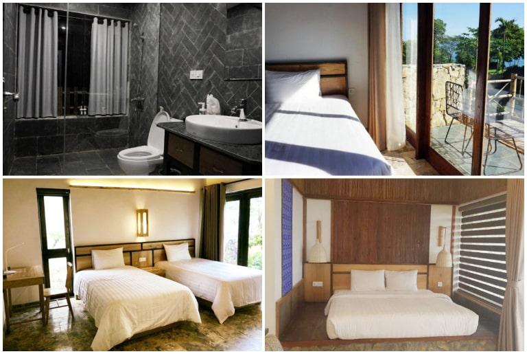 Hệ thống phòng nghỉ tiện nghi tại resort Mai Châu Bakhan.