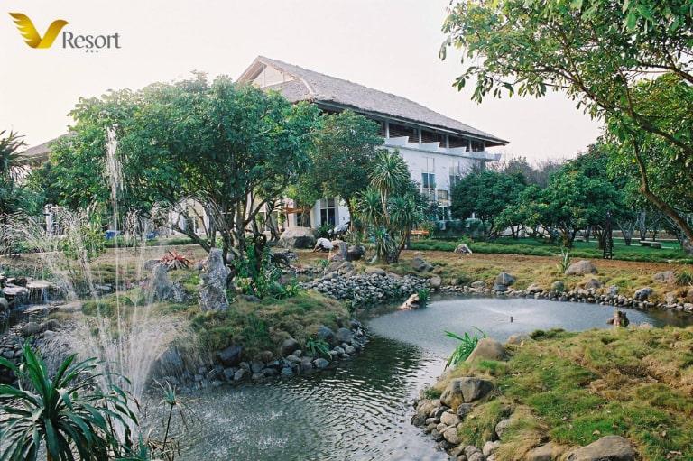 Khu nghỉ dưỡng V resort ghi điểm với khung cảnh yên bình