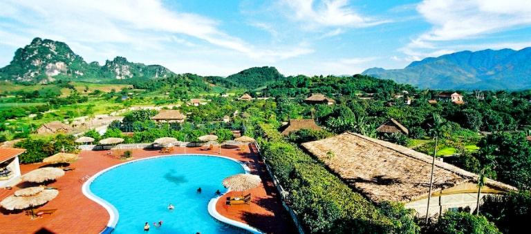 V resort - khu nghỉ dưỡng khoáng nóng tại Kim Bôi Hòa Bình