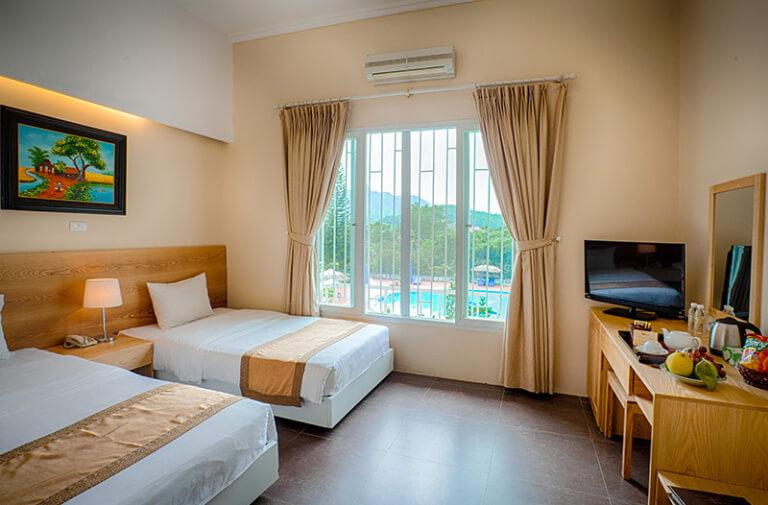 Phòng giường đôi tại Lion Hotel tại V resort