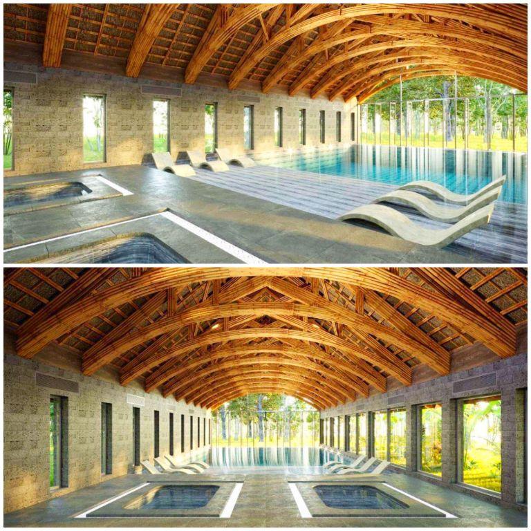 Bể bơi khoáng nóng rộng 420m2