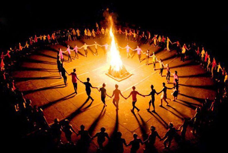 Khu team building - trại lửa