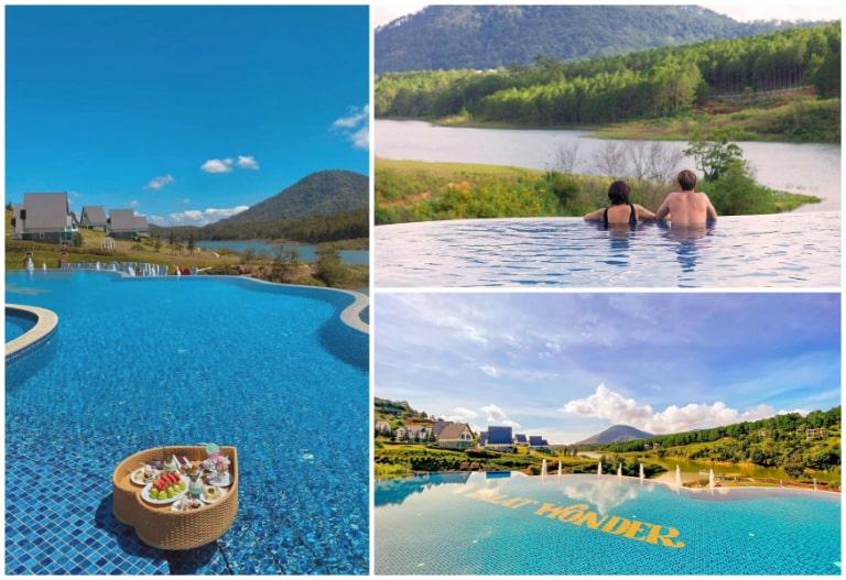 Mặt nước trong xanh của bể bơi Wonder Resort