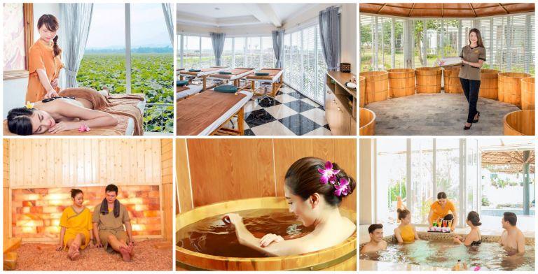 Sen sauna - Vươn Vua resort 5 sao gần Hà Nội