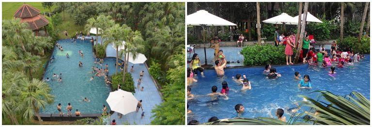 Bể bơi tại resort 5 sao gần Hà Nội