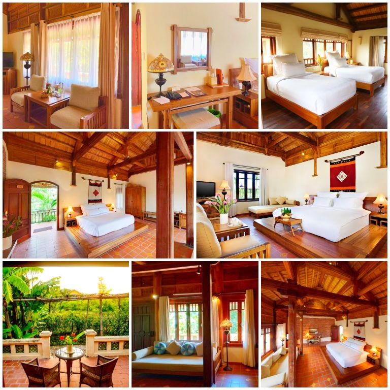 Không gian phòng ngủ tại resort 5 sao gần Hà Nội