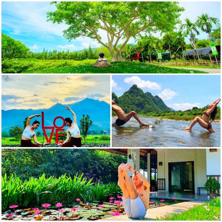 Yoga - Ngồi thiền tại resort An Lạc