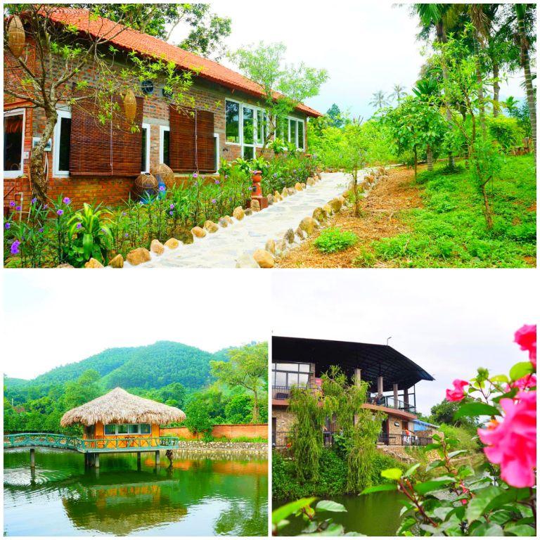 Lai Farm resort Ba Vì có bể bơi